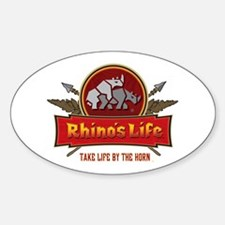 Rhino's Life Oval Decal