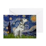 Starry Night / Dalmation Greeting Card