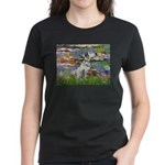 Lilies / Dalmation Women's Dark T-Shirt