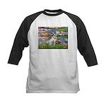 Lilies / Dalmation Kids Baseball Jersey