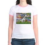 Lilies / Dalmation Jr. Ringer T-Shirt