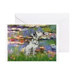 Lilies / Dalmation Greeting Cards (Pk of 10)