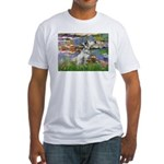 Lilies / Dalmation Fitted T-Shirt