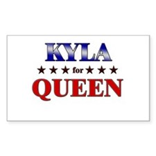KYLA for queen Rectangle Decal