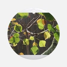 Dewy Leaves Ornament (Round)