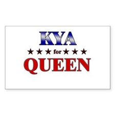 KYA for queen Rectangle Decal