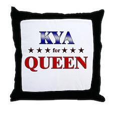KYA for queen Throw Pillow