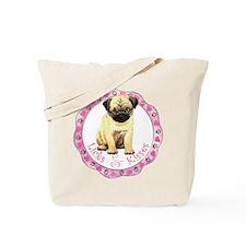 Pug Valentine Tote Bag
