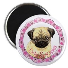 Pug Valentine Magnet