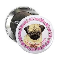 """Pug Valentine 2.25"""" Button"""