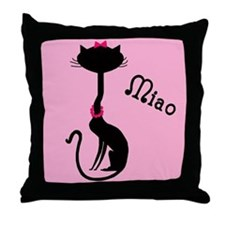 Ooh La La French Kitty Throw Pillow
