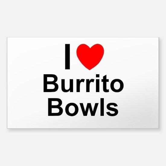 Burrito Bowls Sticker (Rectangle)