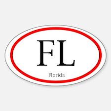 Florida Oval Decal (Sticker)