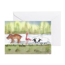 Hippo Birdie 2 Ewe Greeting Card