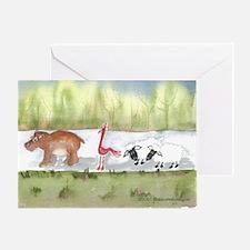 Hippo Birdie 2 Ewe Greeting Card