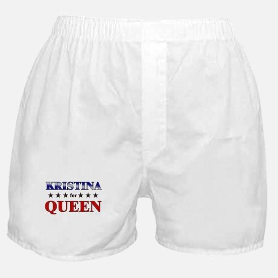 KRISTINA for queen Boxer Shorts