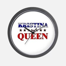 KRISTINA for queen Wall Clock