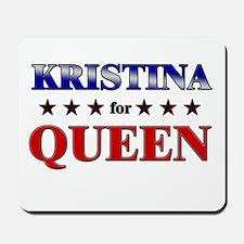 KRISTINA for queen Mousepad