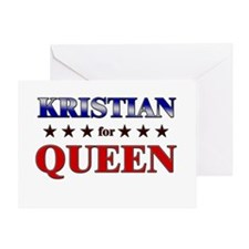 KRISTIAN for queen Greeting Card