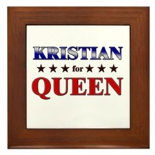 KRISTIAN for queen Framed Tile