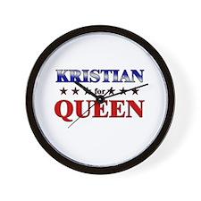 KRISTIAN for queen Wall Clock