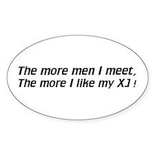 Men / I like my XJ - Euro Oval Decal