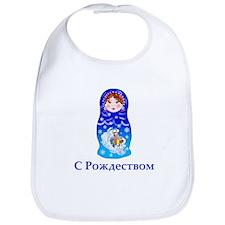 Russian Christmas Nesting Doll Bib