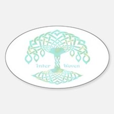 Inter Woven Oval Decal