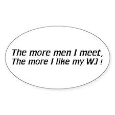 Men / I like my WJ - Euro Oval Decal