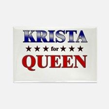 KRISTA for queen Rectangle Magnet