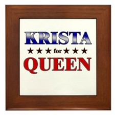 KRISTA for queen Framed Tile