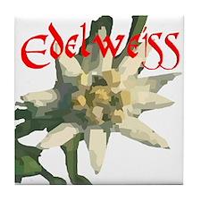 Edelweiss Flower Tile Coaster