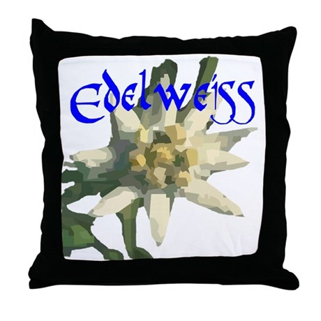 Edelweiss Flower Throw Pillow