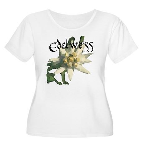 Edelweiss Flower Women's Plus Size Scoop Neck T-Sh