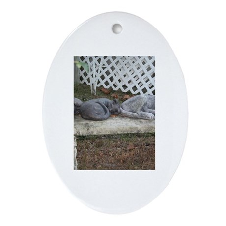 Stone Bench Oval Ornament