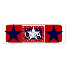 USA Red, White, Blue Bumper Bumper Sticker