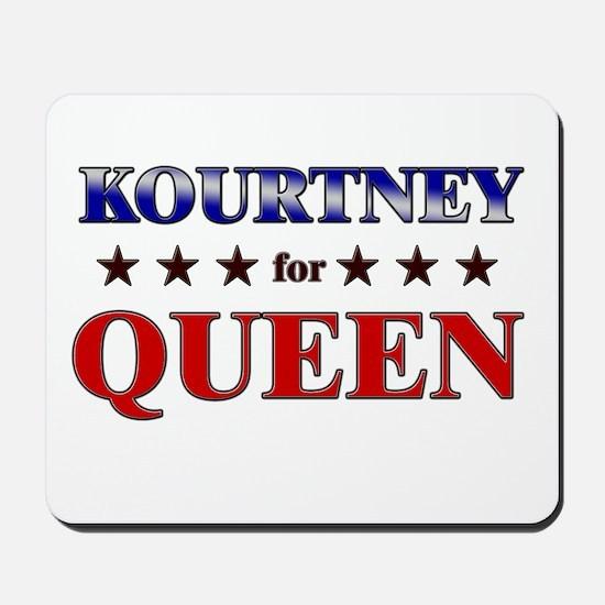 KOURTNEY for queen Mousepad