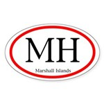 Marshall Islands Oval Decal (Sticker)