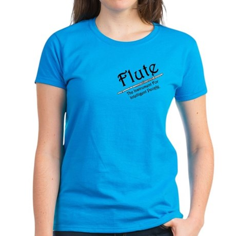 Intelligent Flute Pocket Image Women's Dark T-Shir