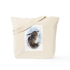 Funny Barred owl Tote Bag