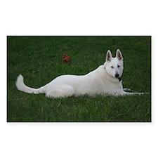 White Shepherd Rectangle Decal
