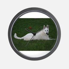White Shepherd Wall Clock