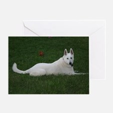 White Shepherd Greeting Card