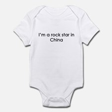 I'm a rockstar in China Infant Bodysuit