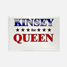 KINSEY for queen Rectangle Magnet