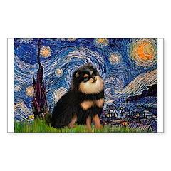 Starry Night / Pomeranian(b&t) Decal
