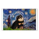 Starry Night / Pomeranian(b&t) Sticker (Rectangle)