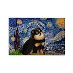 Starry Night / Pomeranian(b&t) Rectangle Magnet (1