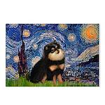 Starry Night / Pomeranian(b&t) Postcards (Package