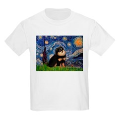 Starry Night / Pomeranian(b&t) Kids Light T-Shirt